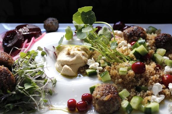 quinoa meatball landscape