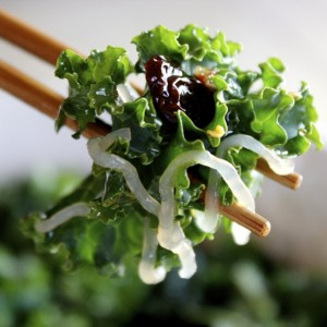 Sweet, Spicy, Savory Kale Salad