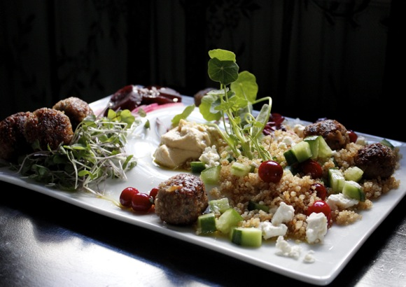 meatballs, quinoa meatballs, meatball landscape, five star cooking group