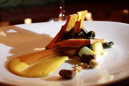 ing: sweet potato chain, vanilla parsnip, balsamic, truffle hazelnut