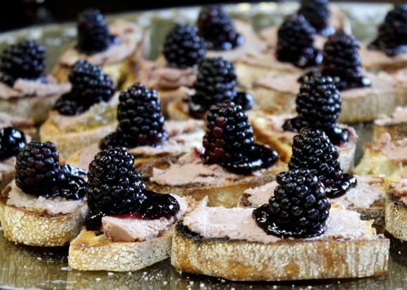 pork pate blackberry canapes