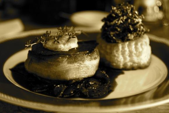 Filet de Boeuf aux champignons Tartlette d'épinards