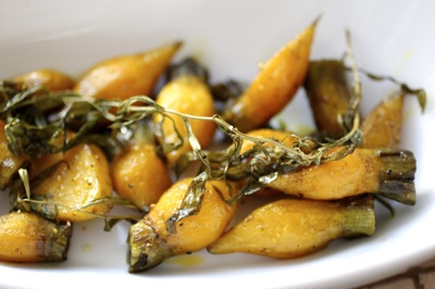tarragon roasted baby golden beets