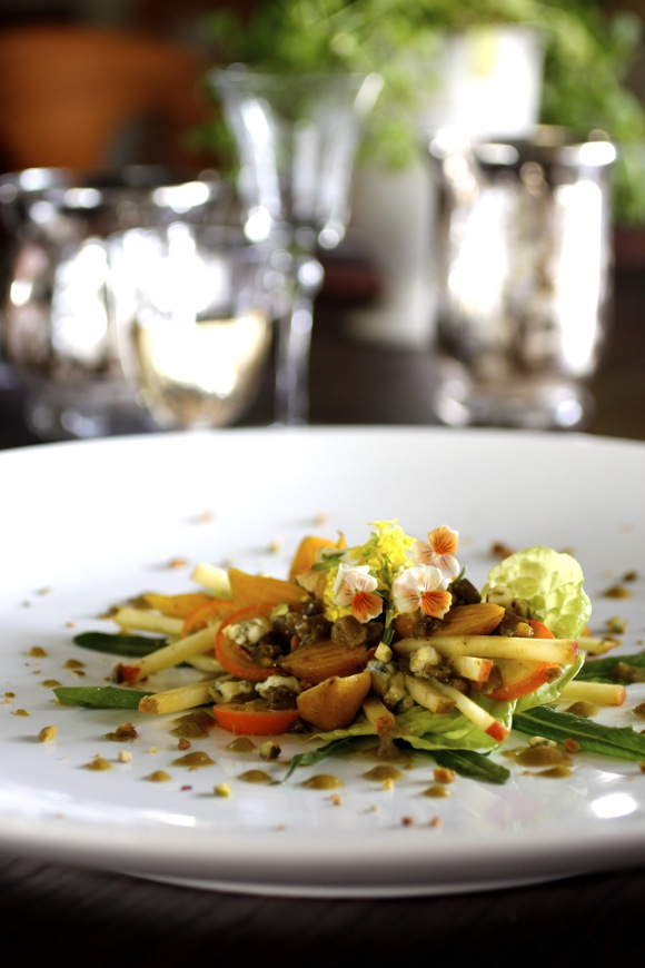 Resplendent Golden Baby Beet Salad