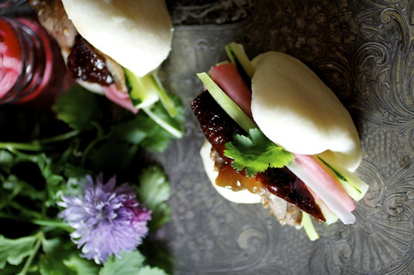 peking duck and steamed buns