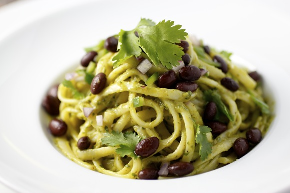 avocado+black+ bean+pasta