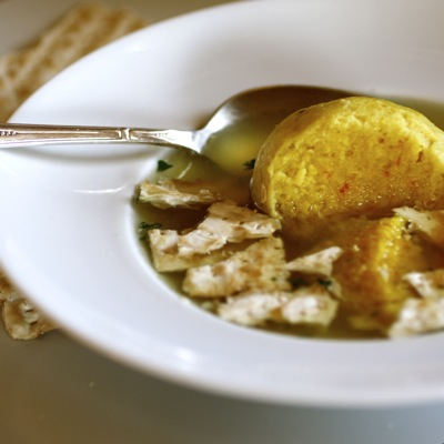 saffron matzo ball, chicken soup saffron matzah balls, matzoh cracker soup