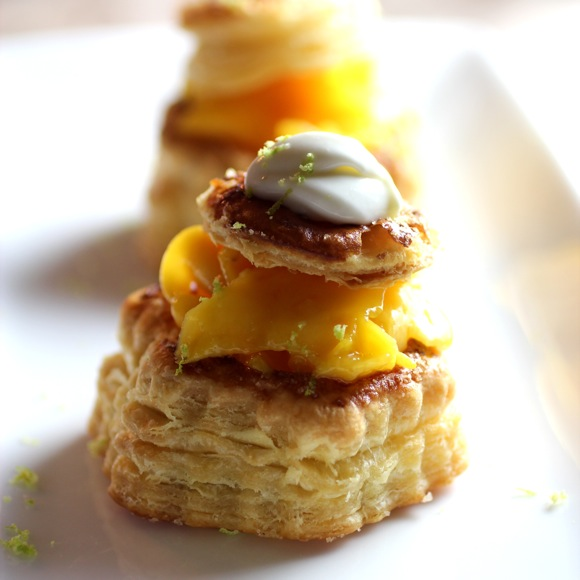 mango and cream vol-au-vent