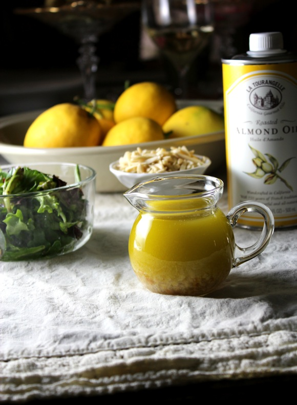 meyer lemon almond vinaigrette