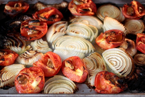 roasted tomato, onion, garlic