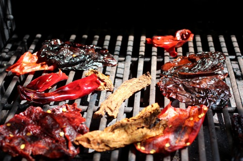 grilled dried chiles