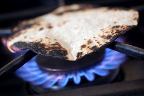 charred tortillas