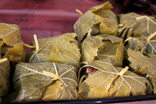 grape leaves bundles