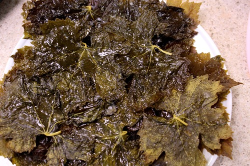 grape leaves chips