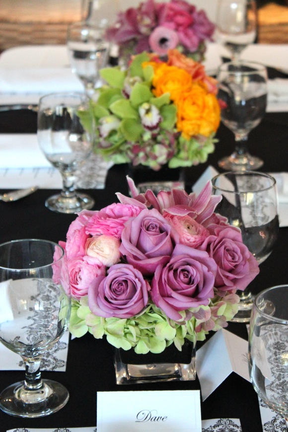 table setting, centerpieces