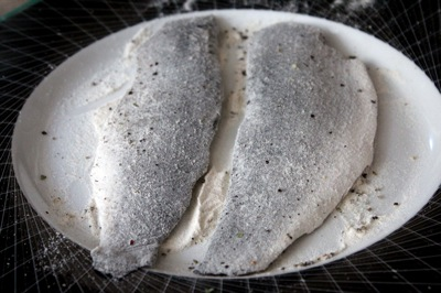 how to pan-sear branzino, wondra