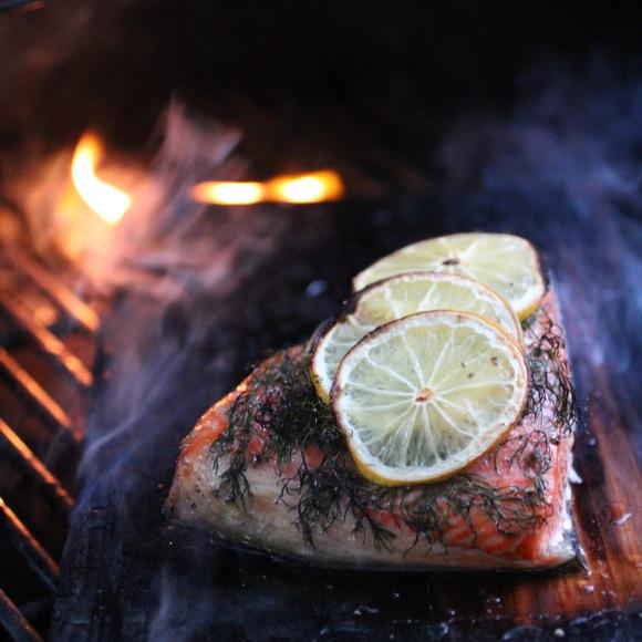 salmon cedar plank smoke
