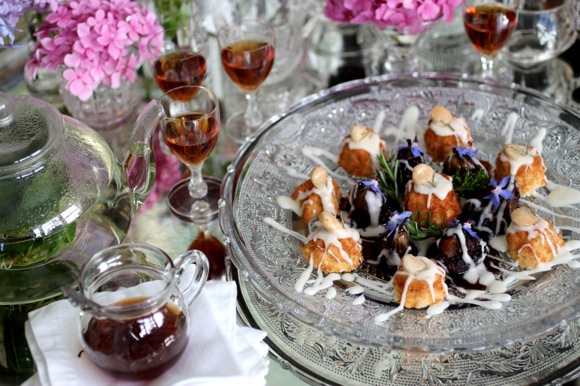 sherry tea cakes, beautiful high tea image