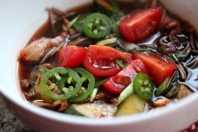 colorful fresh hot pot