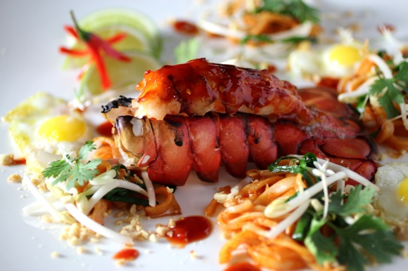 chili glazed lobster tail