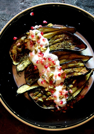 how to make elegant eggplant, garlic sauce