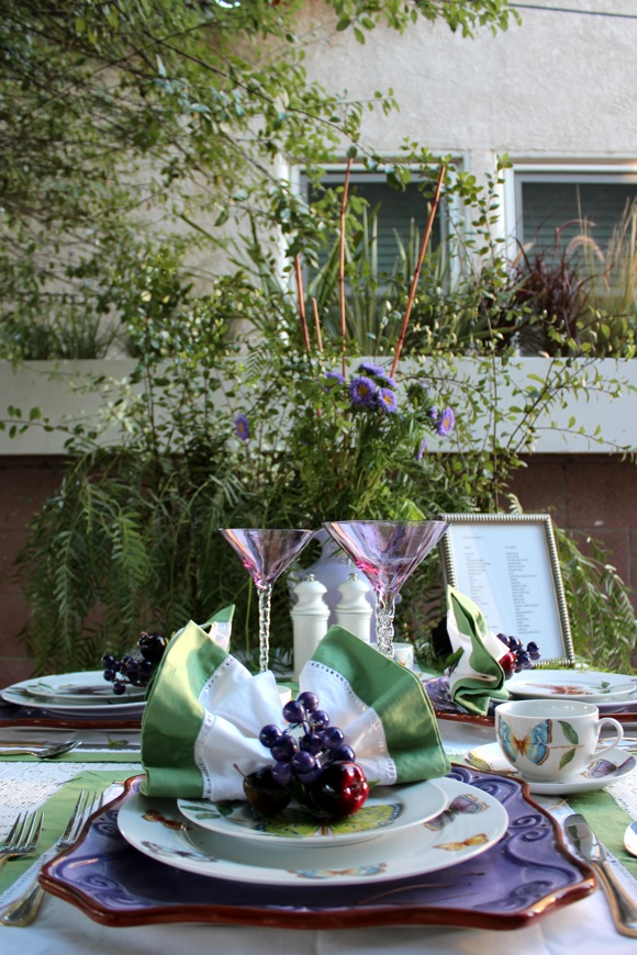 white point home tour , butterfly garden table setting