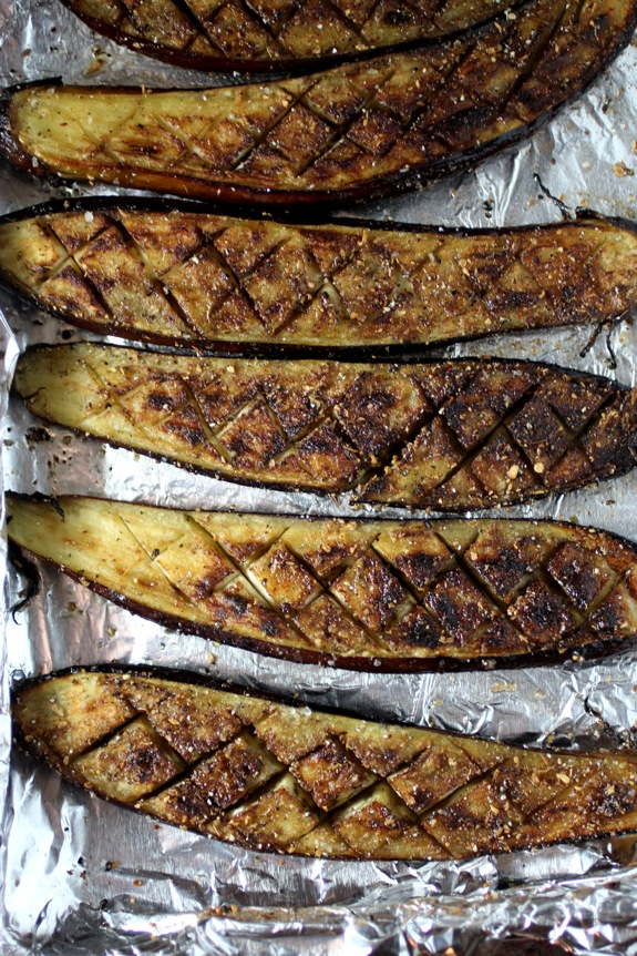 roasted eggplant with cardamom recipe