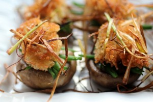 Stuffed Mushrooms &#8220;Green Bean Casserole Style&#8221;