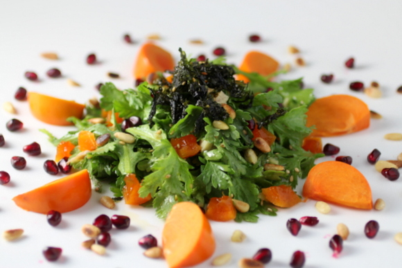 Persimmon Salad With Sesame Vinaigrette Recipes — Dishmaps