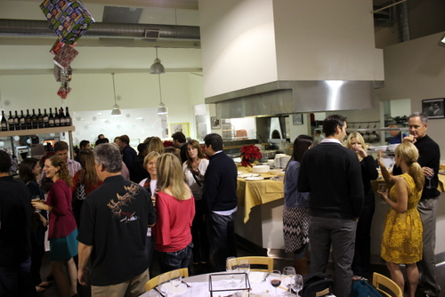 how to throw a workplace holiday party, eatalian cafe