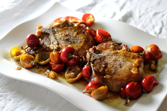 Old School: Pork Chops with Pickled Cherry Pepper Sauce – Taste With ...