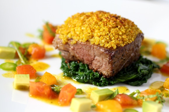 Leg of Lamb, Curry Quinoa Crust