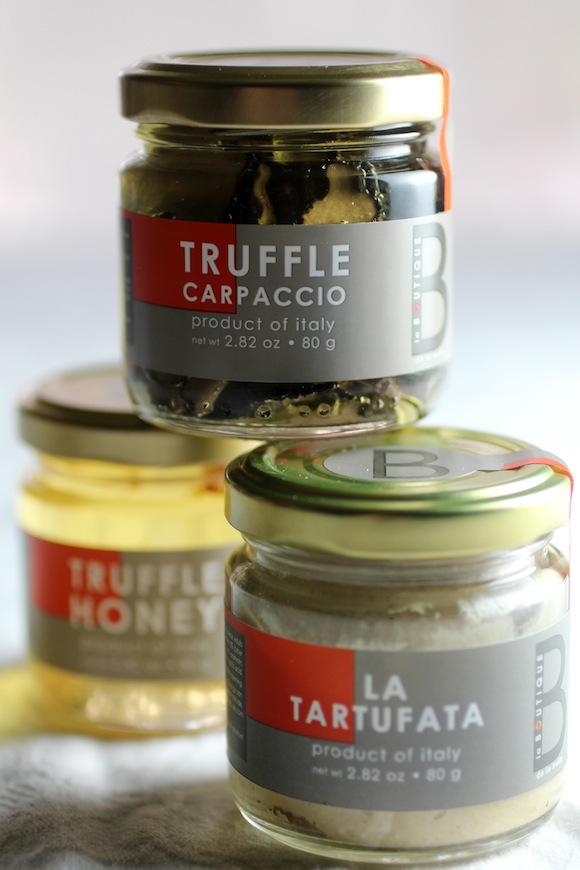 truffle trio, truffle honey, truffle carpaccio, truffle cream