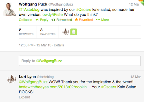 Wolfgang Puck Tweet