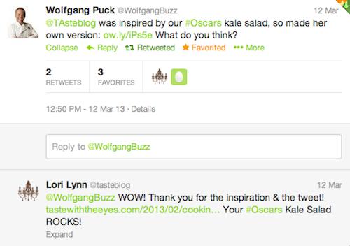 Wolfgang Puck Tweet