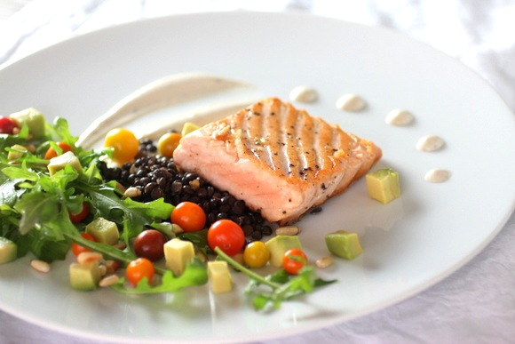 salmon with truffles