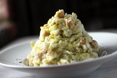 cabbage leek colcannon