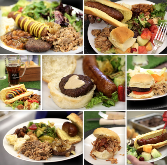 baseball luncheon collage