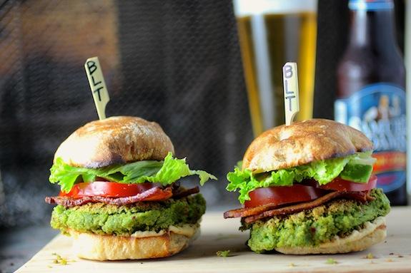 swiss chard falafel burger