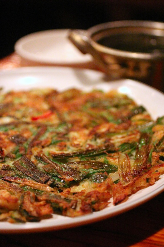 pa jeon, korean scallion pancake