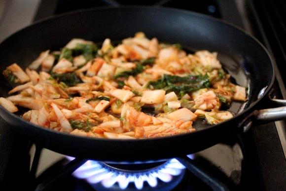 saute kimchi