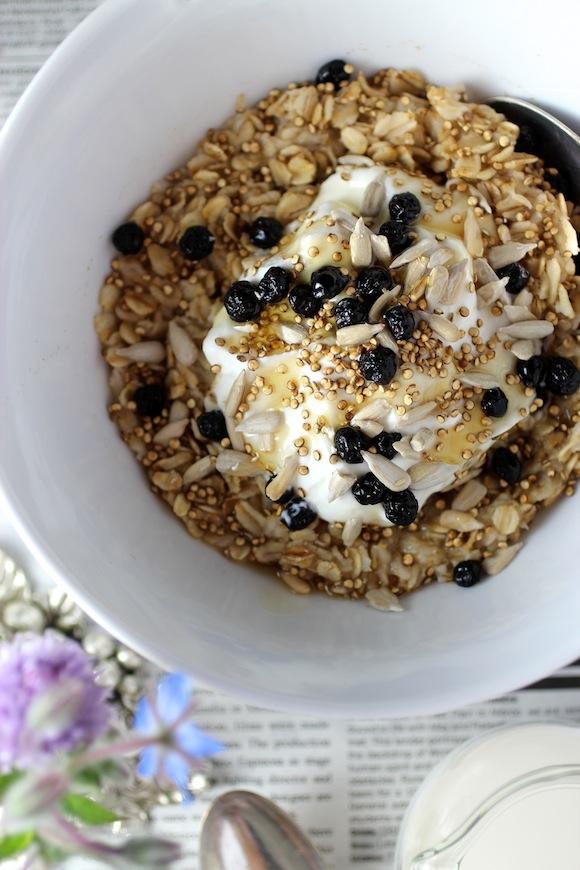 oatmeal, toasted quinoa