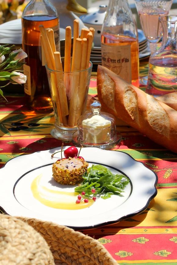 pistachio crusted foie gras