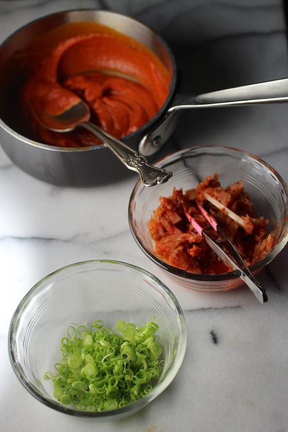 Gochujang Butter, Kimchi, Scallion
