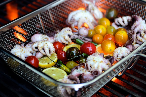 how to grill baby octopus
