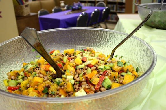 black eyed pea squash salad