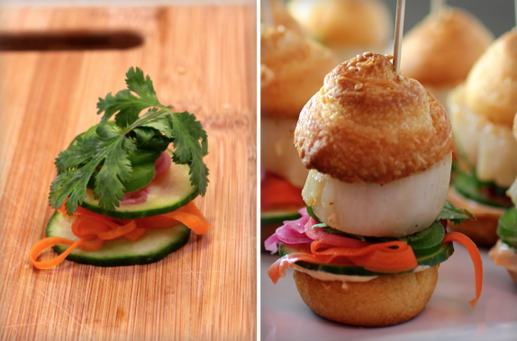 scallop bahn mi sliders