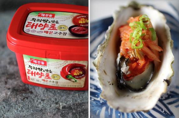 BBQ Oyster - Korean Style, Gochujang butter