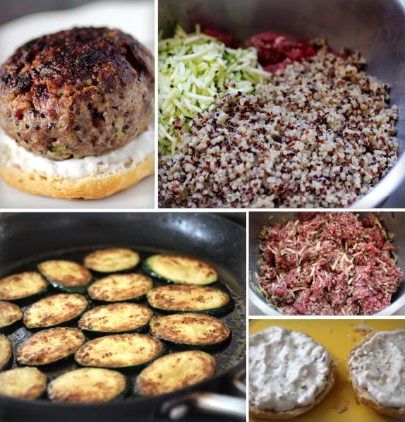 zucchini quinoa burger recipe