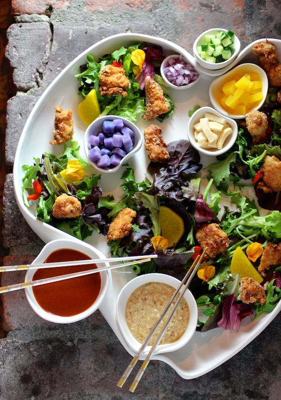 Korean Fried Chicken Salad DECONSTRUCTED - Taste With The Eyes